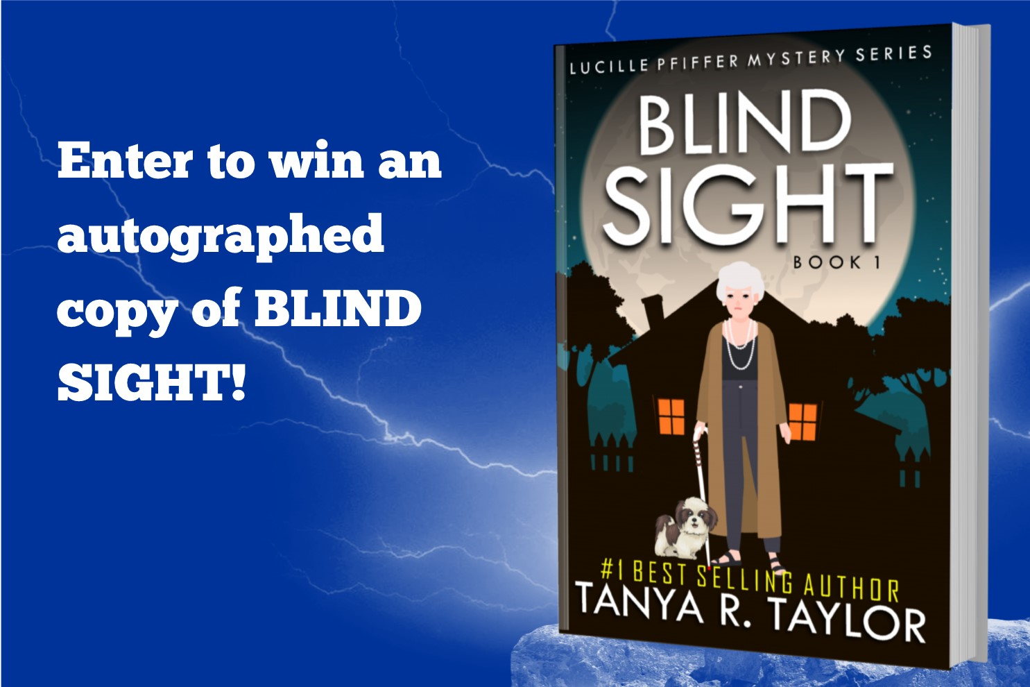 BLIND SIGHT PROMO - AUTHOGRAPHED PAPERBACK COPY